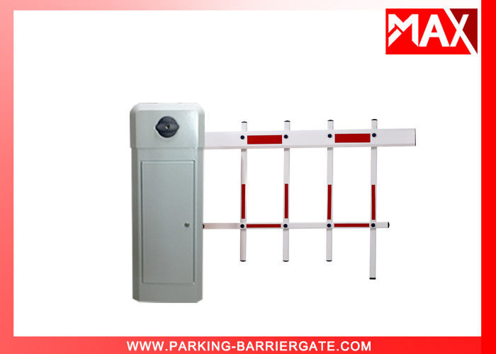 White Color Two Fence Parking Barrier Gate for Parking Gate System Application